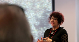 Sharon Cavanagh, Manager Veterans' Services, presenting at a forum in Australia.JPG